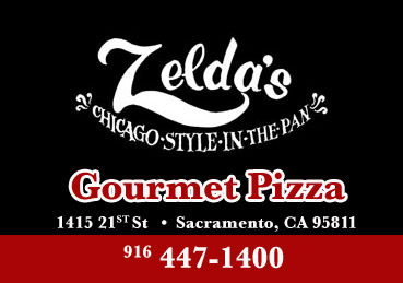 Zelda's Chicago style gourmet pizza is skillfully prepared, located in Sacramento, CA
